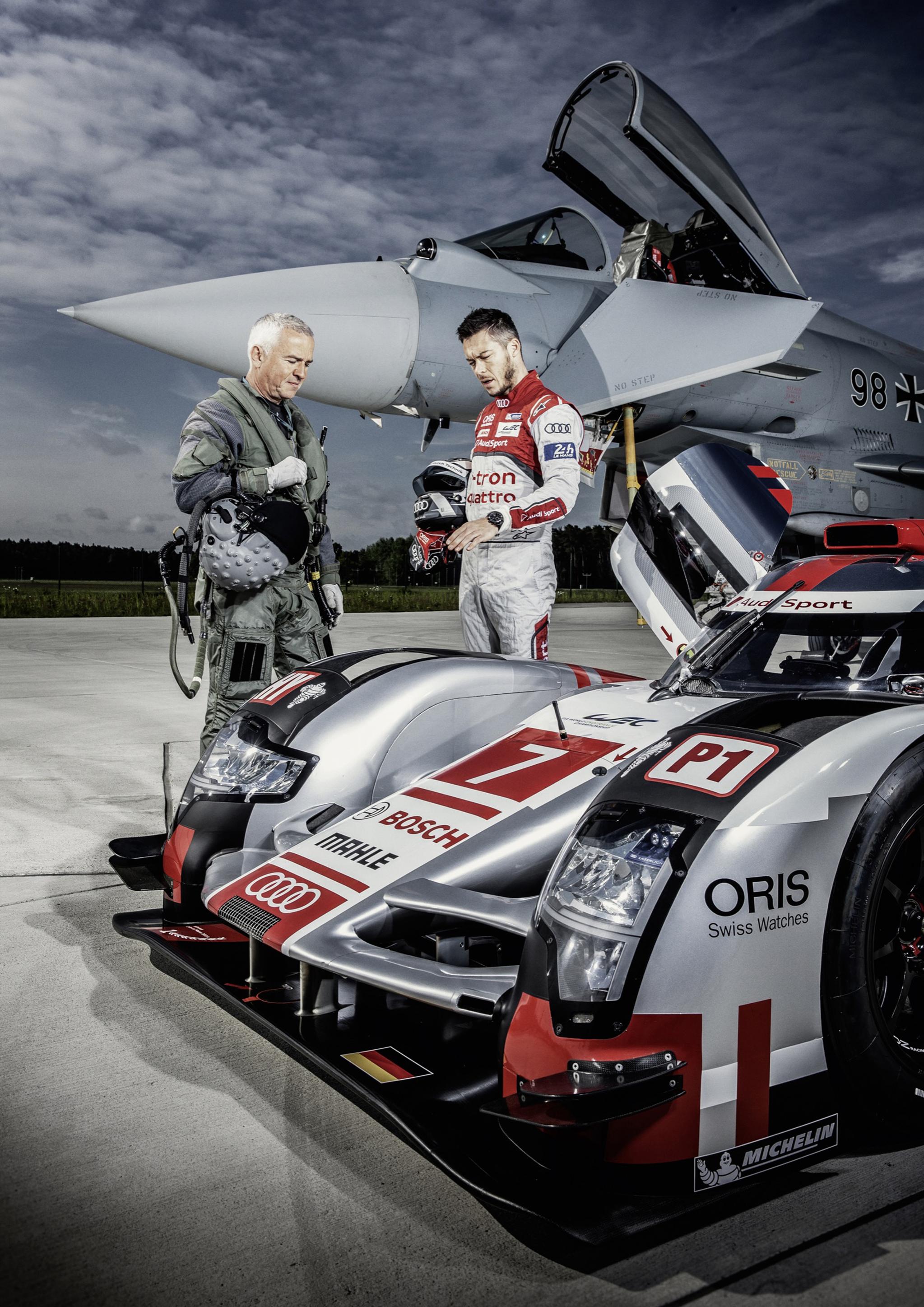 Dos colosos de la velocidad: el Audi R18 e-tron quattro y el Eurofighter Typhoon