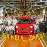 Comienza la producción del nuevo Opel Zafira en la planta de Rüsselsheim