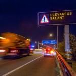 La xarxa d'Autopistes a Catalunya i Aragó es prepara per a l'hivern amb un simulacre de neu
