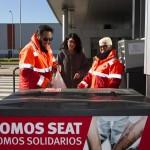 SEAT I ELS SEUS TREBALLADORS DONEN A CREU ROJA ESPANYOLA 2,3 TONES D'ALIMENTS
