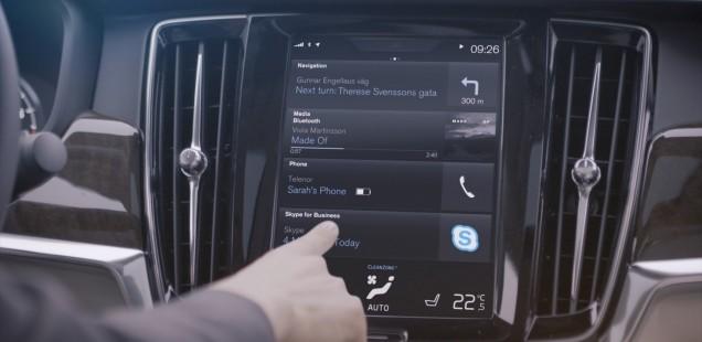 VOLVO CARS INCORPORA SKYPE FOR BUSINESS DE MICROSOFT EN ELS VEHICLES DE LA SÈRIE 90