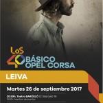 LEIVA PRÒXIM ARTISTA EN DIRECTE DELS 40BÁSICO OPEL CORSA