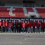 Los jugadores del FC Barcelona reciben sus nuevos vehículos Audi y disfrutan en el Circuito de Montmeló
