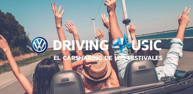 LA PLATAFORMA DE COTXE COMPARTIT VOLKSWAGEN DRIVING MUSIC AMPLIA LA SEVA PRESÈNCIA A 10 FESTIVALS