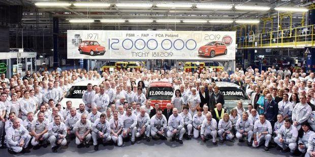 La planta de Tychy de Fiat Chrysler Automobiles produce el coche número 12 millones